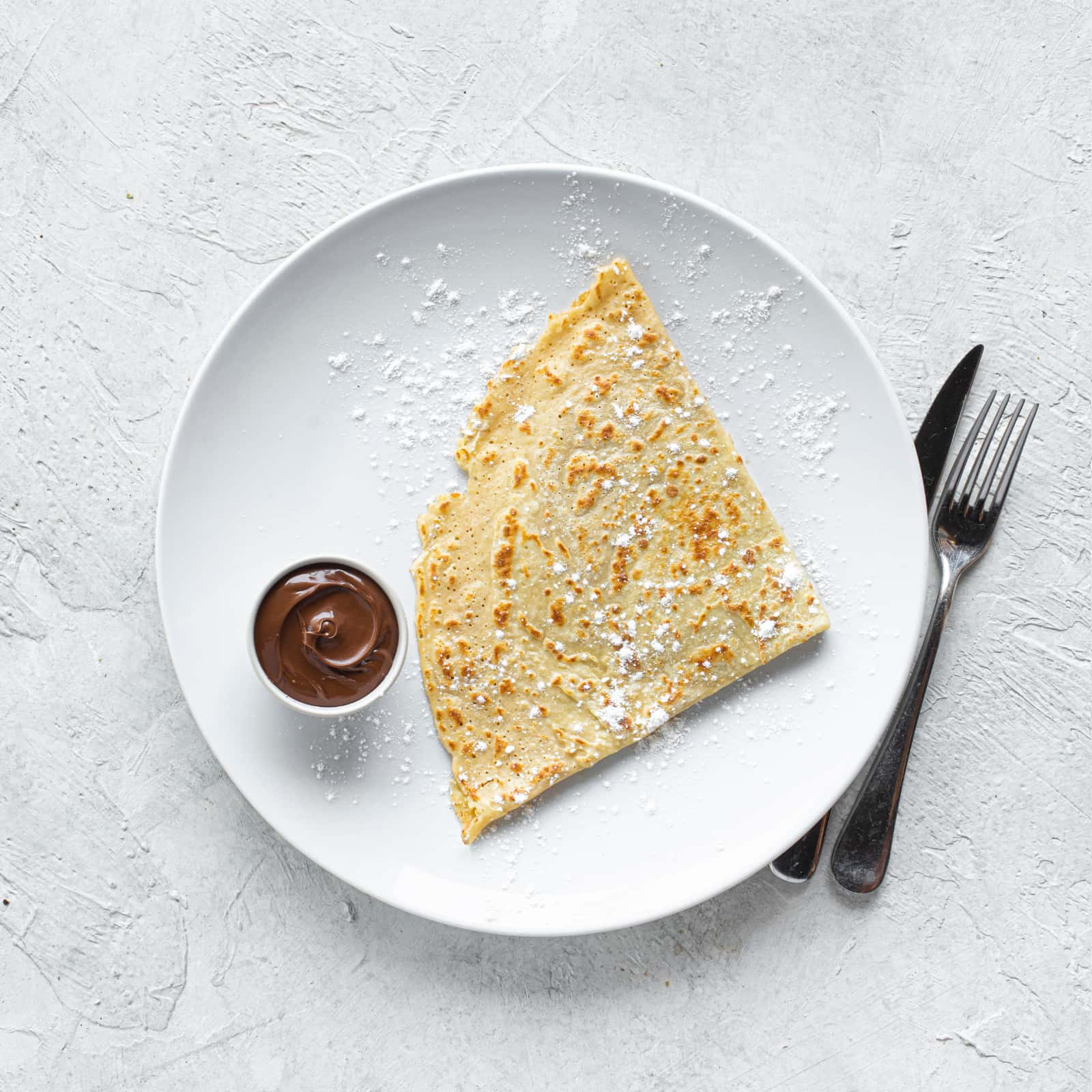 Crep de chocolate blanco